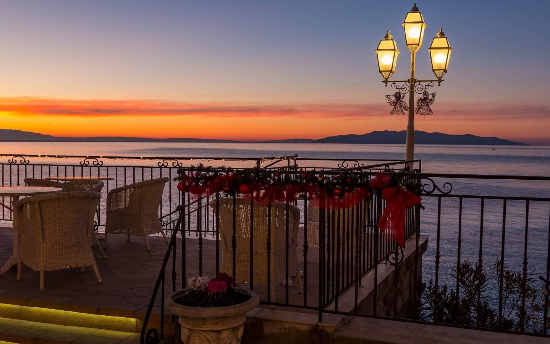 Hotel Miramar mit Spa und Meerblick, direkt am Meer in Opatija, Kvarner, Kroatien.