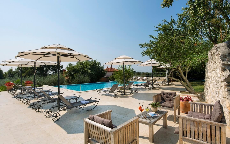 Landhotel San Rocco in Brtonigla, Istrien, Kroatien