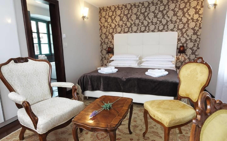 Boutique Hotel Vela Vrata in der Altstadt von Buzet, Istrien, Kroatien.