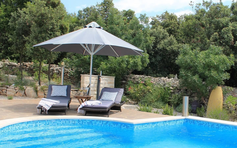 Villa Diminici, Ferienhaus mit Pool, Ostküste Istrien, Kroatien